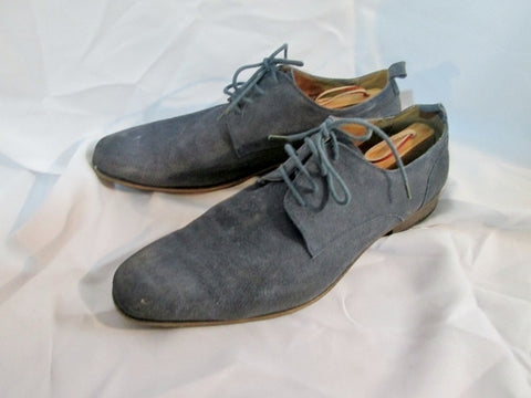 Mens KENNETH COLE REACTION Suede Wingtip Oxford Shoe 12 BLUE Loafer Leather