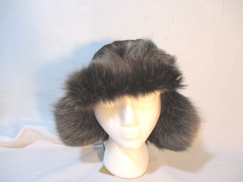 NEW LOLA HATS Aviator Fur Hat Cap Trooper Flap Cossack Trapper BROWN Cosplay