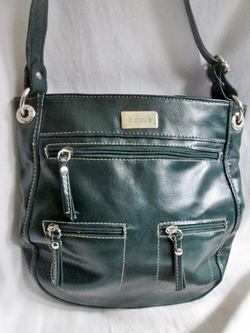 BLAQUE ARGENTINA Faux Leather Vegan Hobo Shoulder Saddle BAG Crossbody GREEN