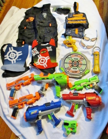 Lot NERF LOT SOFT DART TAG Vest Blaster ++ Toy Outdoor Fun Play BUNDLE Set