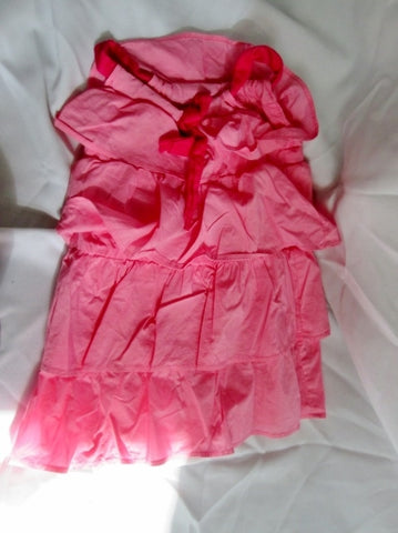 Preschool Toddler Girls ZARA KIDS Ruffle Dress BERRY PINK Tiered Sundress 3-4 / 140