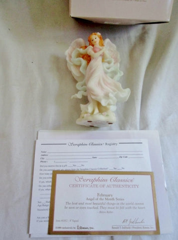 NEW Seraphim Classics Roman FEBRUARY ANGEL OF THE MONTH Heaven on Earth Sculpture Art Statue