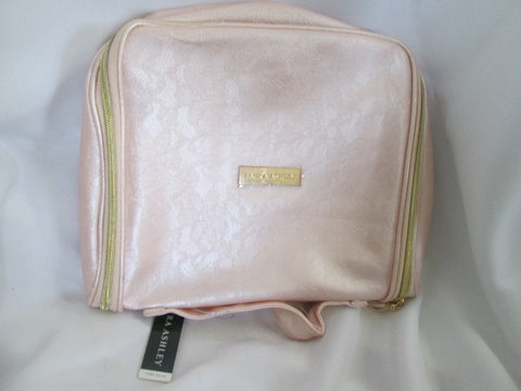 NEW NWT LAURA ASHLEY jewelry cosmetics hanging organizer travel bag PINK LACE
