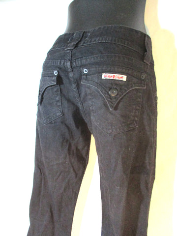 HUDSON Denim JEANS PANTS Trousers BLACK 26 Mid-Rise Dungarees Womens