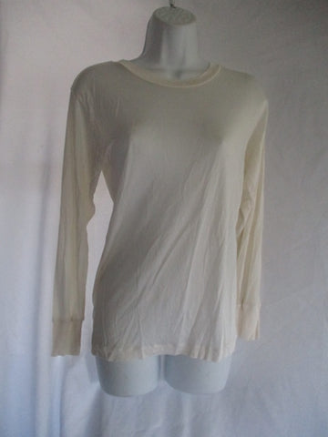 WINTERSILKS Base Layer Top Pure Silk CREME WHITE S Shirt Womens