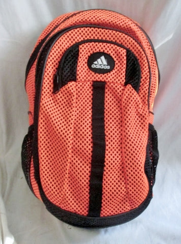 ADIDAS MESH BACKPACK Shoulder Rucksack Travel BAG ORANGE NEON BRILLIANT BRIGHT