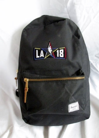 HERSCHEL LAKERS BASKETBALL BACKPACK Shoulder Rucksack Travel BAG BLACK