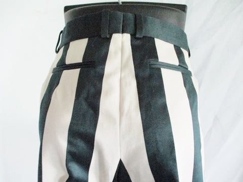 NEW NWT CELINE FRANCE Striped JAILBIRD Pant 38 6 Trouser GREEN WHITE CREME Womens