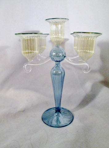 Gorgeous GLASS VENETIAN ITALY Candelabra Arm Candle Holder Candlestick Handmade  ITALIAN