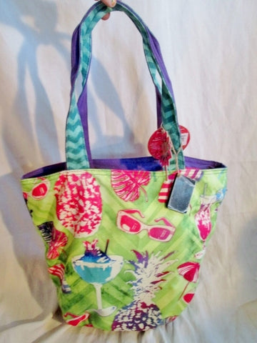 NEW NWT PAUL BRENT SUN N SAND Batik Tote Satchel Carryall Bag SUMMER PARTY