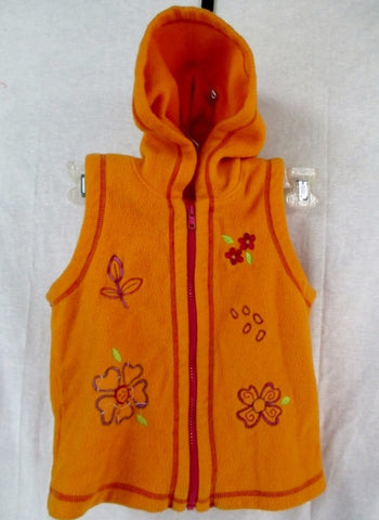 Youth  Kids Girls HANNA ANDERSSON Vest JACKET Coat ORANGE FLORAL 5 / 6 / 6X