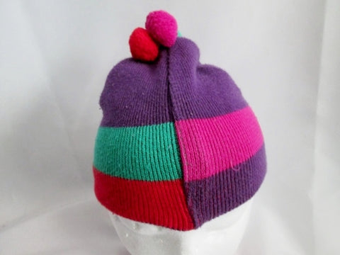 Kids Knit HANNA ANDERSSON cap beanie OS Ski Snow PURPLE SWEDEN L Toddler Stripe
