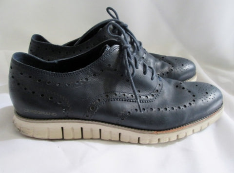 Mens COLE HAAN ZEROGRAND GRAND OS Wingtip Oxford Leather Shoes 11.5 BLACK