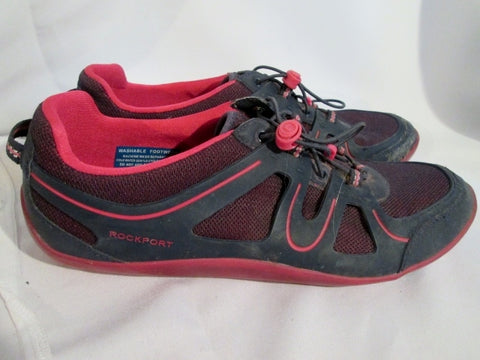 Womens ROCKPORT ADIPRESS Running Athletic Sport Shoe Sneaker 10 BLACK RED