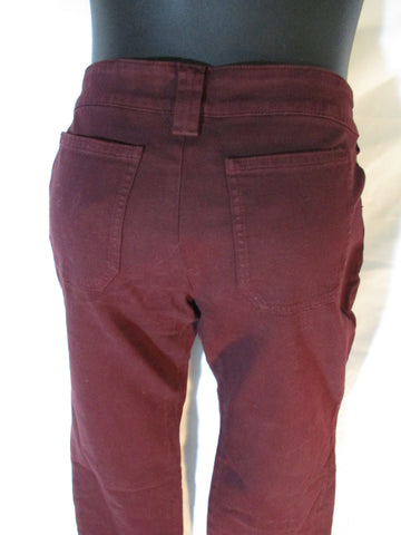 NEW BALENCIAGA PANTS Cotton Denim Jeans 38 PURPLE NWT EGGPLANT
