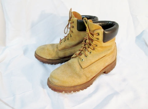 Mens TIMBERLAND 10061 WATERPROOF Leather HIKING Boot Trek BROWN WHEAT 8W