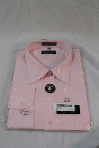 NEW Mens AMANTI ITALIAN STYLE Dress Shirt PINK 18.5 - 36/37 XXL Formal