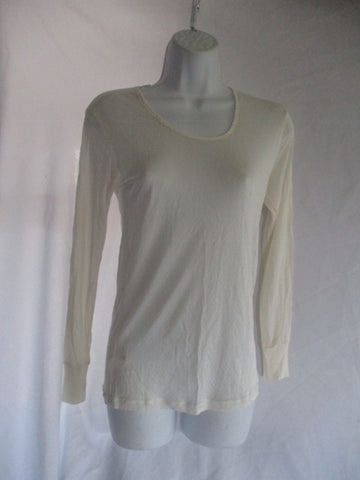 SPORTSILKS Base Layer Top Pure Imperial Silk CREME WHITE M Shirt Womens