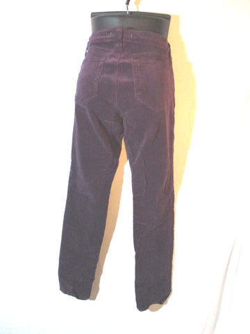 J Brand SKINNY LEG CORDUROY Jean Dungaree Pants Trousers 28 PURPLE Womens