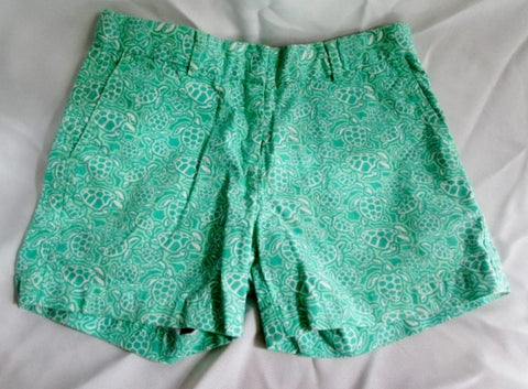 Kids Youth VINEYARD VINES Preppie TURTLE Shorts SUMMER 10 GREEN  Boys Girls Short Pant