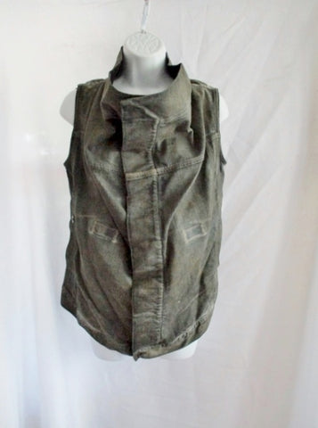 NWT NEW RICK OWENS DRKSHDW DENIM VEST Waistcoat S DARK DUST JACKET Womens Sleeveless