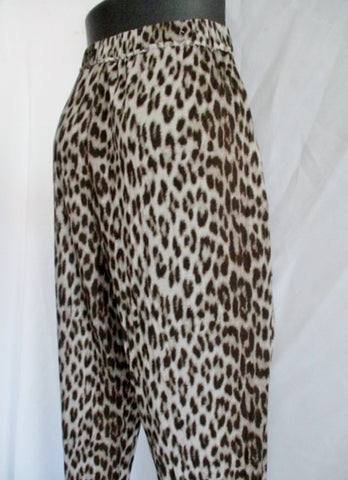 LANVIN PARIS Lounge Sweatpants Sweat Yoga PANTS LEOPARD M