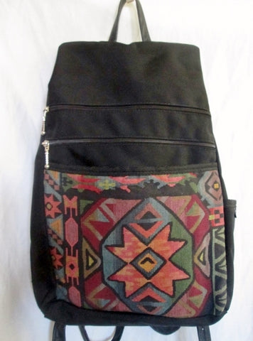 GREATBAGS Tapestry Kilim Sling Book Bag BACKPACK Organizer Aztec Latin L