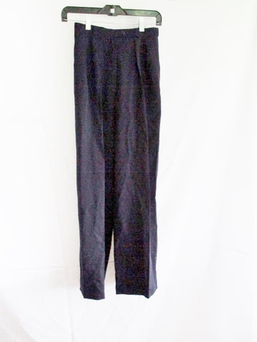 "PER SPOOK FRANCE ""RIVE DROIT"" Pleated Pant Trouser NAVY BLUE 24 x 29"