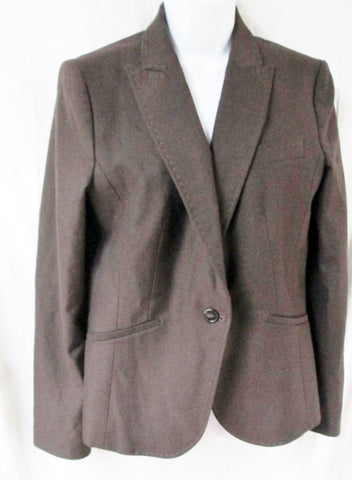 NEW UNITED COLORS BENETTON ITALY  jacket Hipster Blazer Riding Car Coat 48 M BROWN