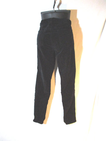 J Brand SUPER SKINNY VELVET Jean Dungaree Pants Trousers 29 BLACK Womens