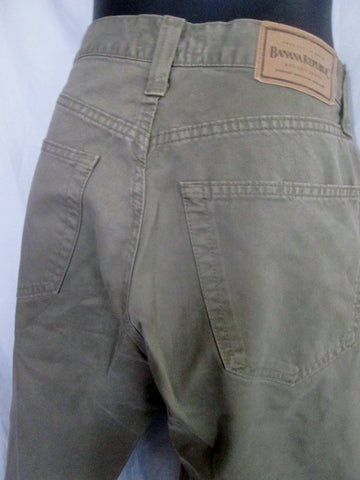 NEW MENS BANANA REPUBLIC Safari Khaki Cotton Chinos PANTS 32 X 32