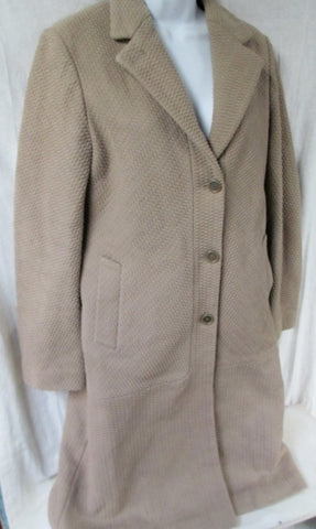 Womens DKNY Maxi Double Breasted TRENCH jacket coat Wheat Beige Brown 8