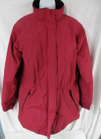 Womens EDDIE BAUER Ski Snowboard Winter JACKET Coat Hunting RED S Hood