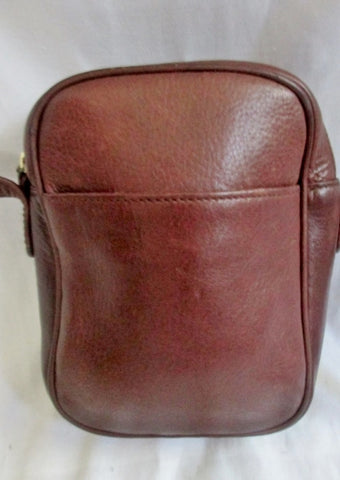 NINE WEST Leather Shoulder Crossbody Man Purse Handbag Travel Bag BROWN S