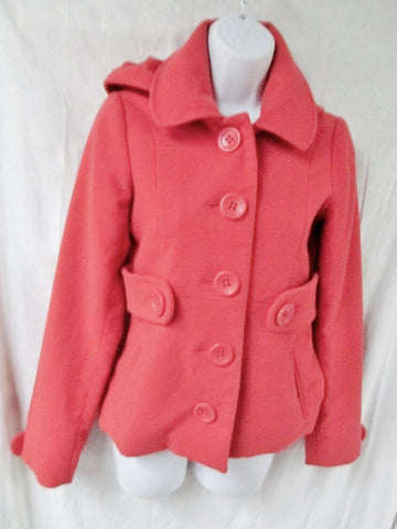 Womens JACK BB DAKOTA Button Up Jacket Coat Blazer XL FIRE ORANGE RED
