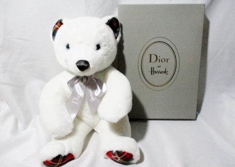 NIB NEW DIOR HARRODS Plush Toy Stuffed Animal Teddy Bear Collectible Gift Doll