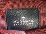 MOGAMBO BARCELONA Pebbled Leather Shoulder Bag Man Purse Crossbody BLACK Travel