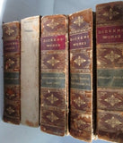 Antique 8 Vol Leather CHARLES DICKENS Set Book RARE BROWN Gilt Classic