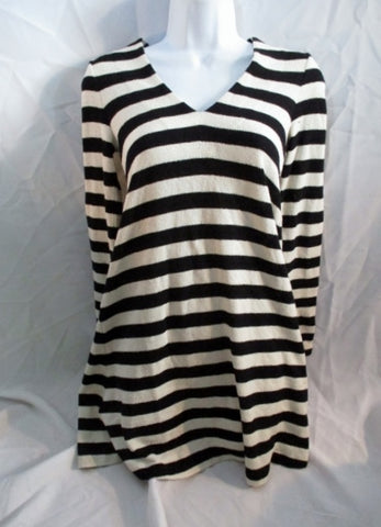NEW Womens AND OTHER STORIES Striped Top Shirt BLACK WHITE 2