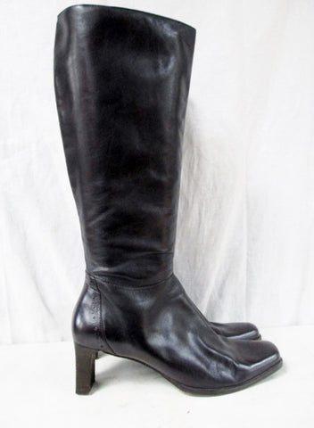 Womens SUDINI NORDSTROM Knee High LEATHER RIDING Moto BOOT 9 BROWN Shoe