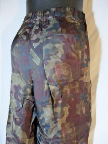 NWT NEW DRIES VAN NOTEN PRONTE Pants Trousers 50 M CAMO CAMOUFLAGE BROWN