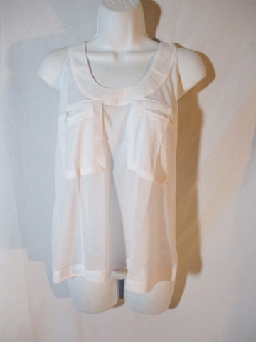 NWT NEW STELLA MCCARTNEY ADIDAS BURN OUT Tank Top M WHITE Racerback