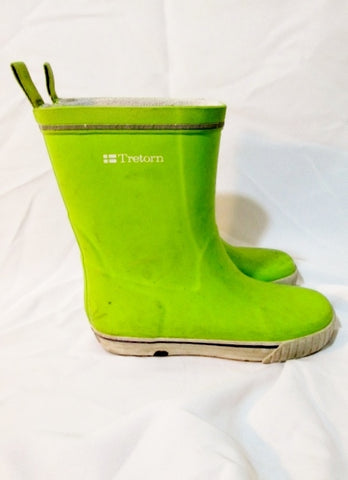 Kids Toddler Girls TRETORN Lined Rain Boots Wellies 2 / 33 CHARTREUSE YELLOW