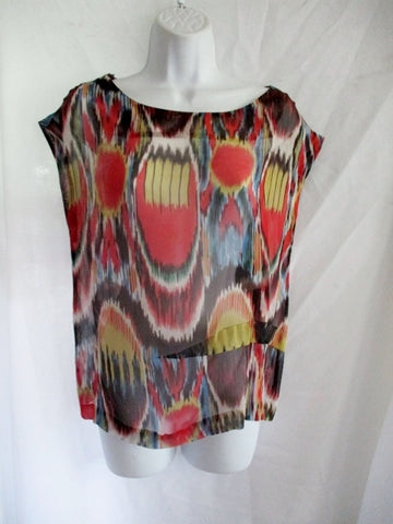 NWT NEW DRIES VAN NOTEN Silk Blouse Top Shirt 38 6 RED YELLOW BLACK WHITE