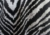 WOMENS TRINA TURK Cotton Mini Shift Dress 6 BLACK ZEBRA TIGER STRIPE
