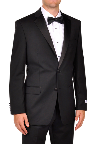 NEW CALVIN KLEIN MYER Tuxedo Sport Jacket Suit SLIM FIT 43R BLACK Formal Wedding NWT Mens