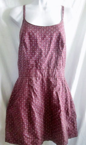 WOMENS GUESS Peasant FLORAL FOLK Style Dress Midi Skirt Cotton PURPLE 11 Hippie Festival