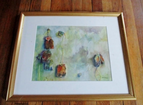JAMIE ALLEN 2003 Watercolor Painting Framed WALL Print ART Picture
