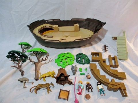 Set Lot PLAYMOBIL BOAT MERMAID TREE ANIMAL STAIR Playset ACCESSORIES Minifig
