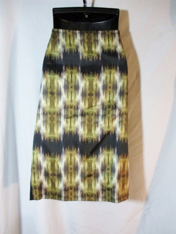 NEW NWT CELINE FRANCE Midi SILK WOOL SKIRT 38 / 6 BLACK A-Line Womens